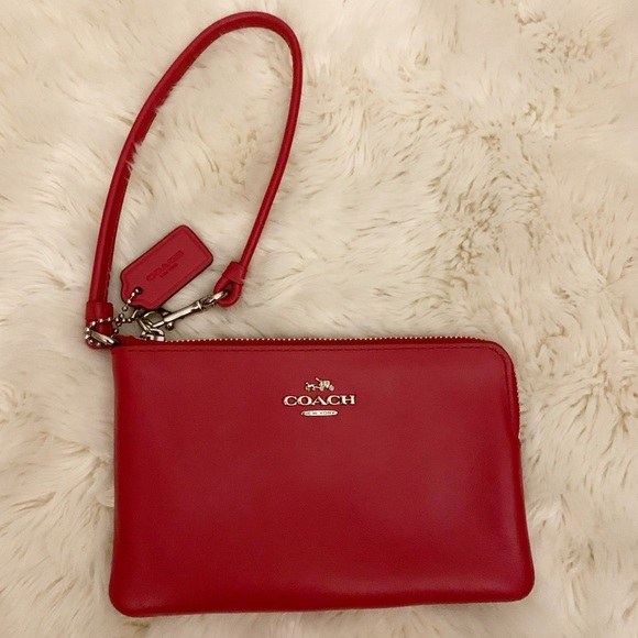 Coach Handbags - COACH Wristlet Wallet, Red